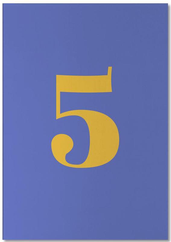 Blue Number 5 bloc-notes