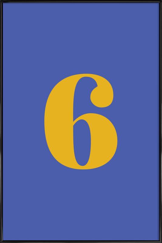 Blue Number 6 affiche encadrée