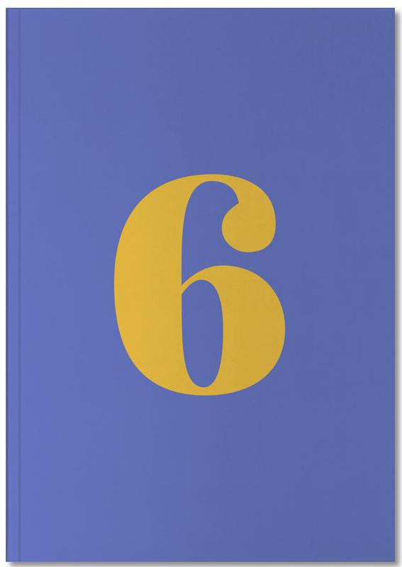 Blue Number 6 Notebook