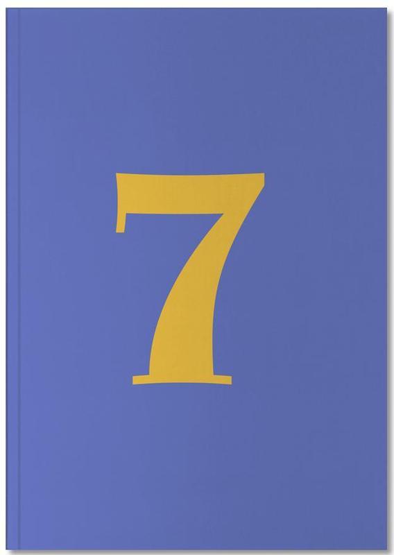 Blue Number 7 Notebook