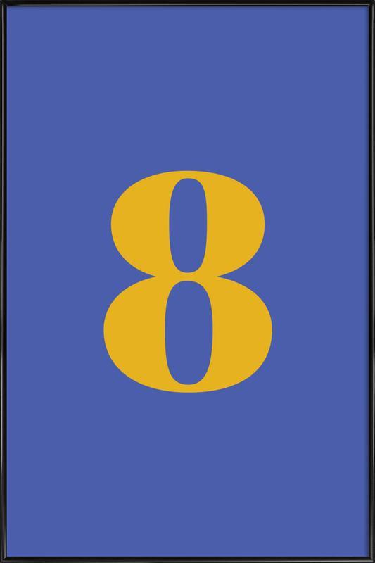 Blue Number 8 affiche encadrée