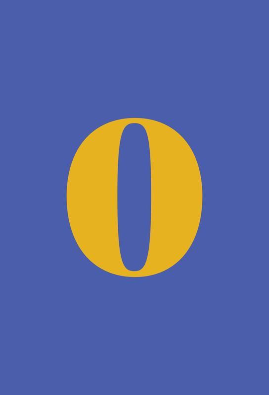 Blue Number 0 -Acrylglasbild