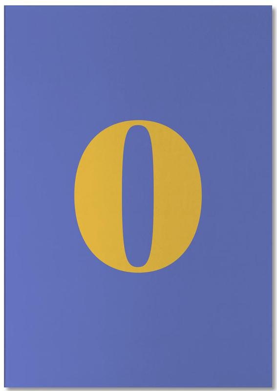 Blue Number 0 bloc-notes