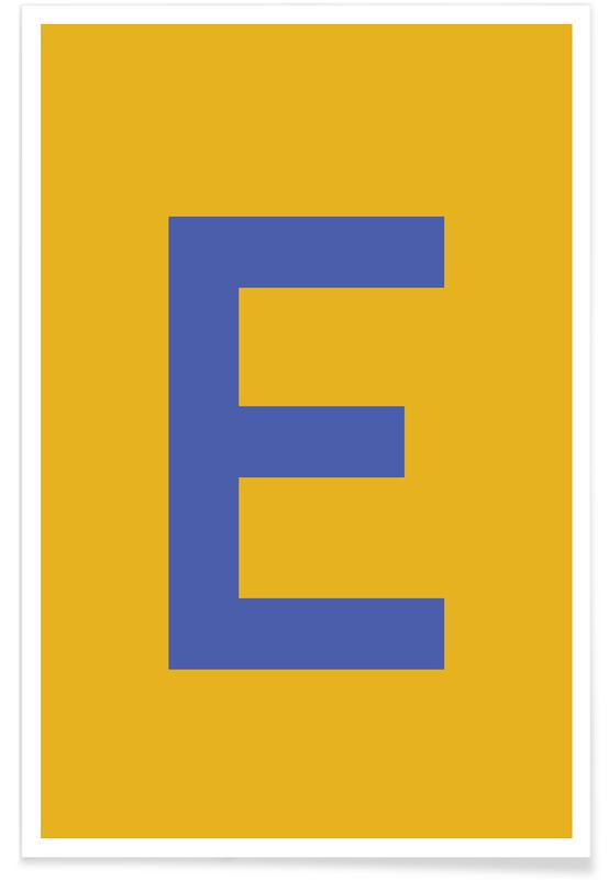 Yellow Letter E Poster