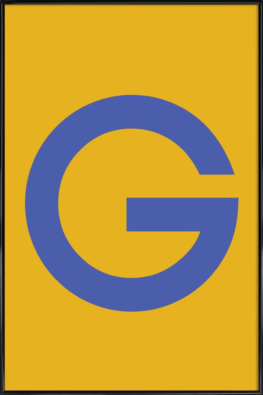 Yellow Letter G Framed Poster