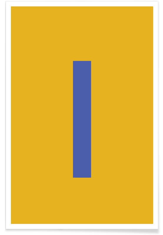 Yellow Letter I Poster