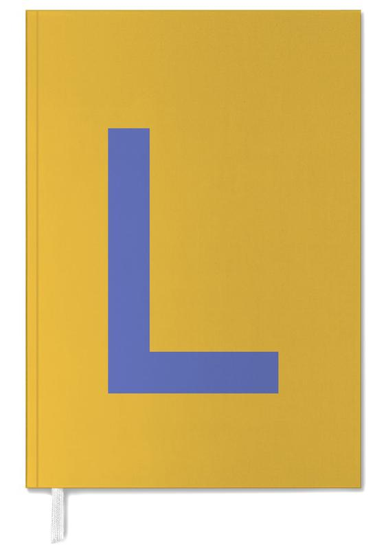 Yellow Letter L Personal Planner