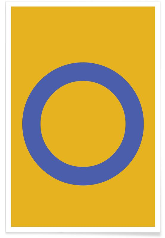 Yellow Letter O affiche