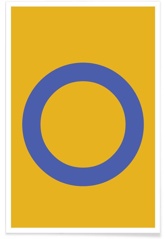 Alfabet og bogstaver, Yellow Letter O Plakat