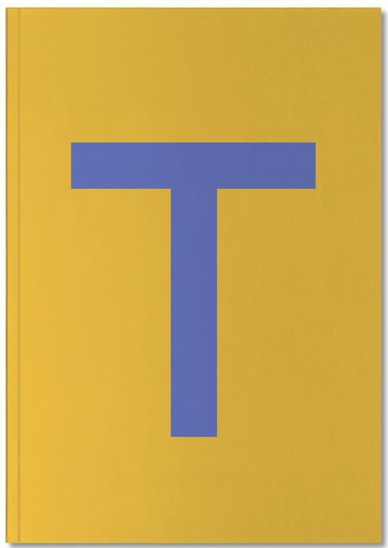 Yellow Letter T Notebook