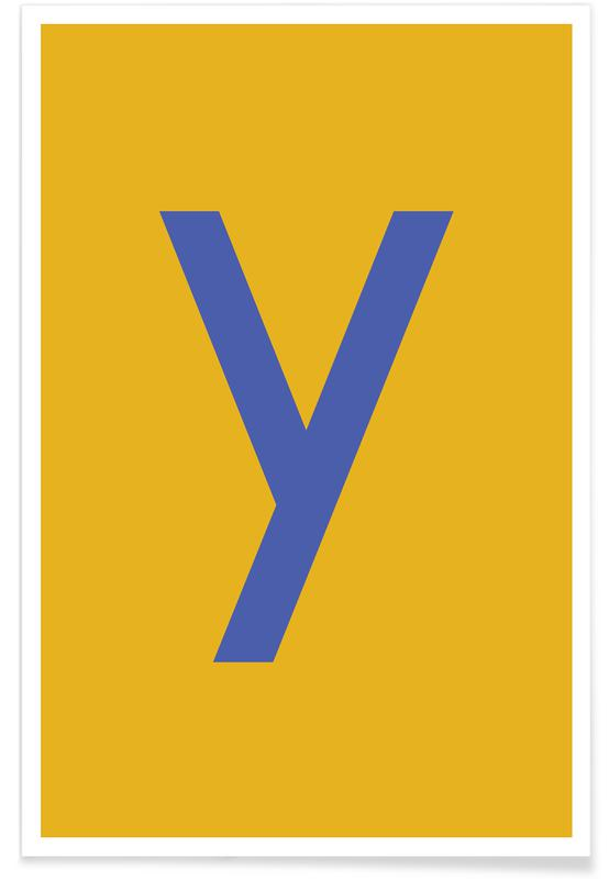Yellow Letter Y Poster