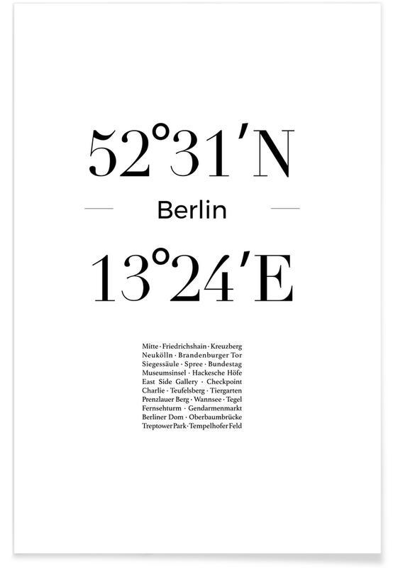 Berlin, Sort & hvidt, Berlin Icons Plakat