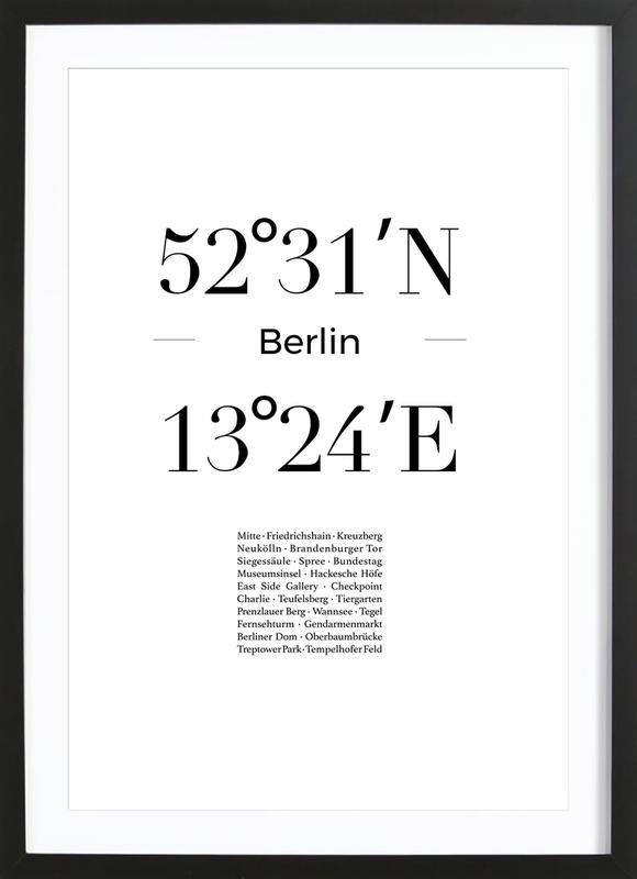 Berlin Icons affiche sous cadre en bois