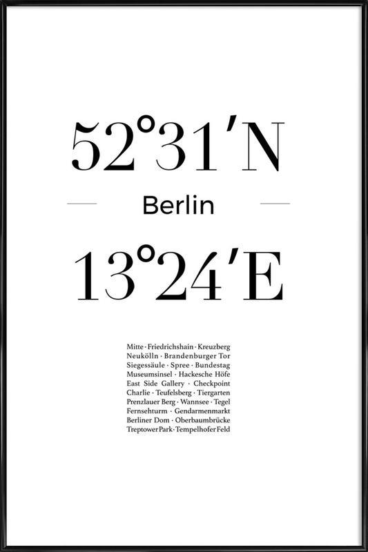 Berlin Icons -Bild mit Kunststoffrahmen
