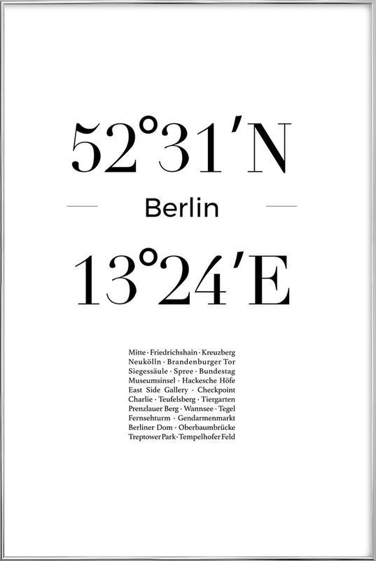 Berlin Icons -Poster im Alurahmen
