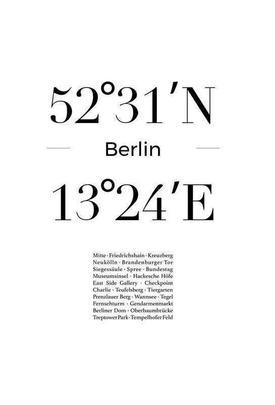 Berlin Icons -Acrylglasbild