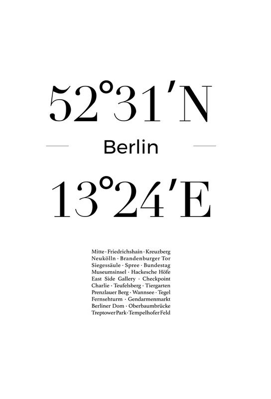 Berlin Icons -Alubild