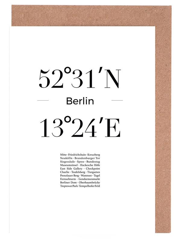 Berlin, Black & White, Berlin Icons Greeting Card Set