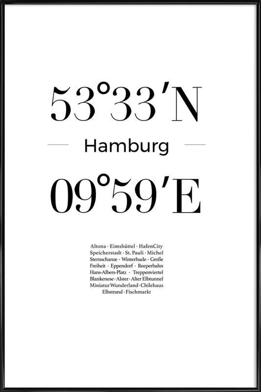 Hamburg ingelijste poster