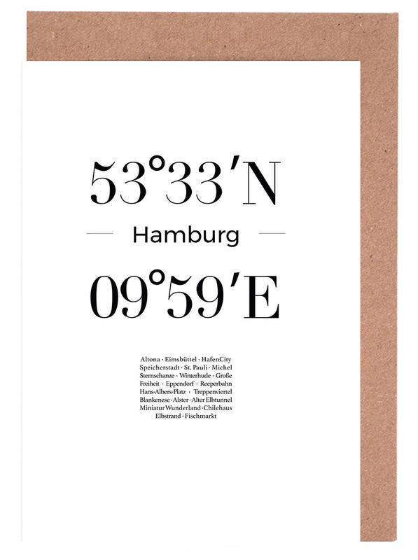 Hamburg, Schwarz & Weiß, Hamburg -Grußkarten-Set
