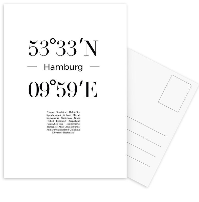 Hamburg -Postkartenset