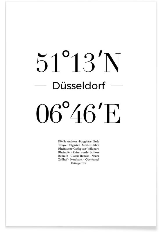 Sort & hvidt, Düsseldorf Plakat