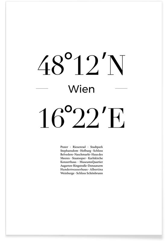 Zwart en wit, Wenen, Wien poster