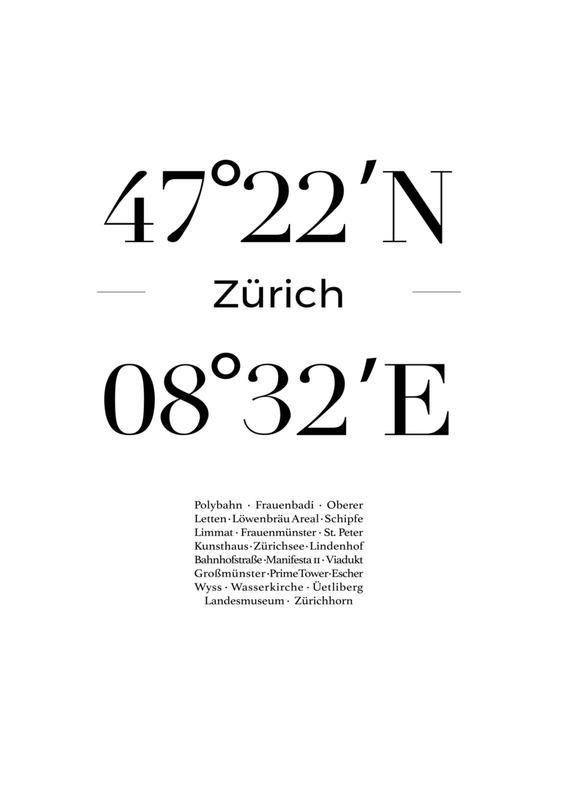 Zürich -Leinwandbild