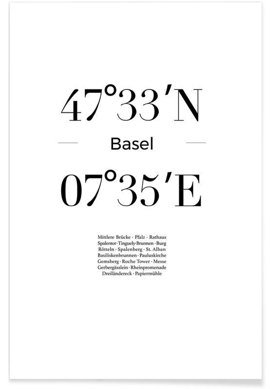 Basel, Sort & hvidt, Basel Plakat