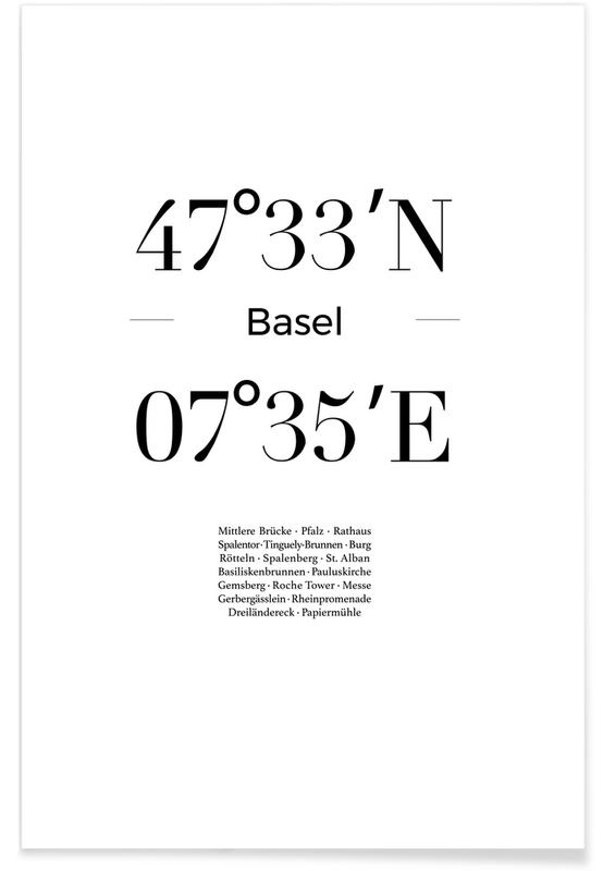 Basel, Blanco y negro, Basel póster