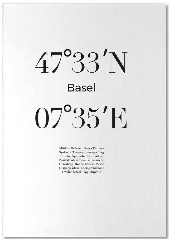 Bazel, Zwart en wit, Basel notitieblok