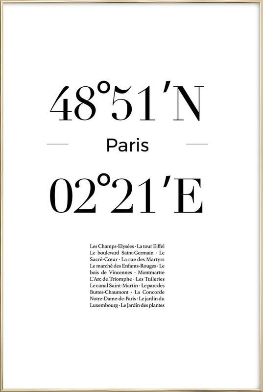 Paris Plakat i aluminiumsramme