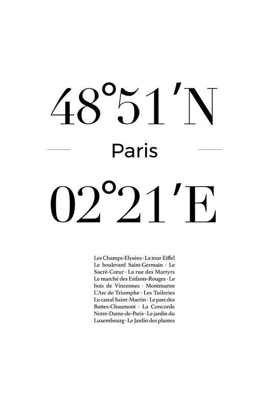 Paris Plakat af aluminum