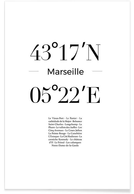 Blanco y negro, Marseille póster