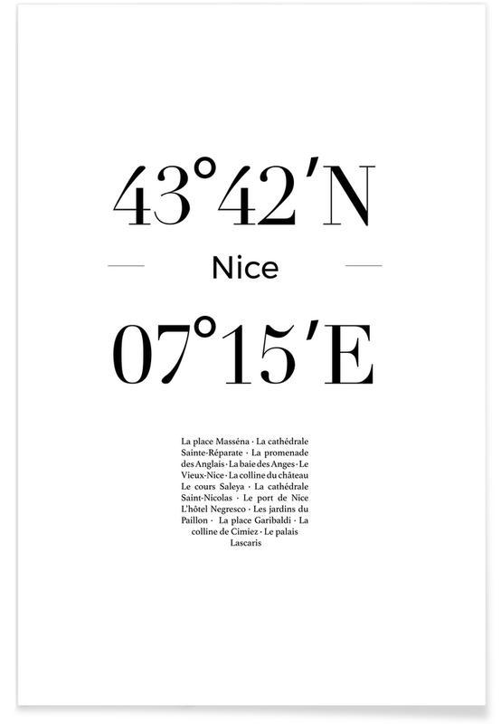 Sort & hvidt, Nice Plakat