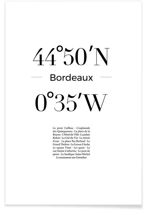 Sort & hvidt, Bordeaux Plakat