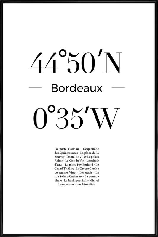 Bordeaux affiche encadrée