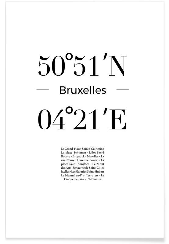 Blanco y negro, Bruxelles póster