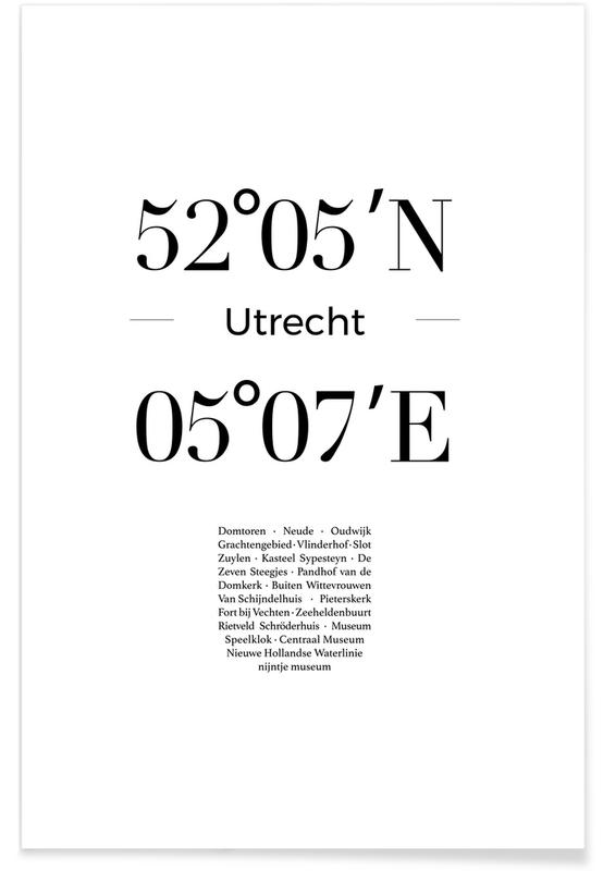 Sort & hvidt, Utrecht Plakat