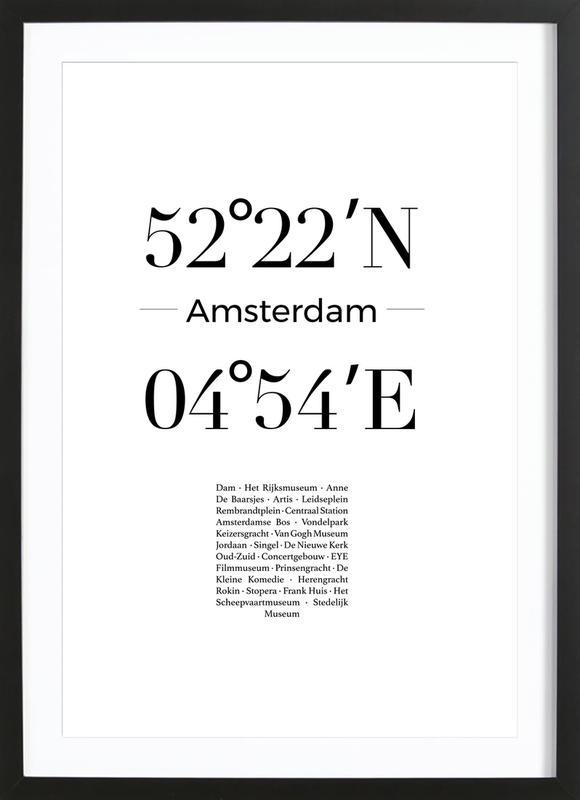 Amsterdam Poster i träram