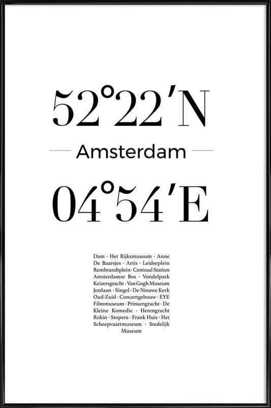 Amsterdam ingelijste poster