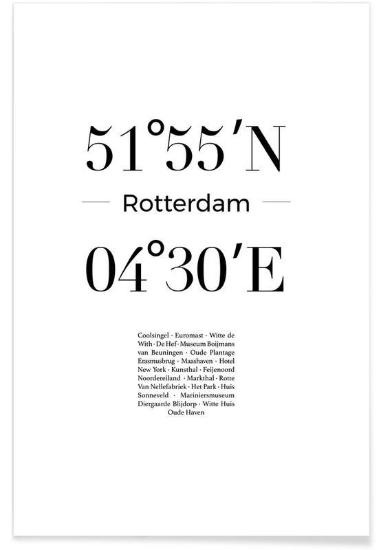 Noir & blanc, Rotterdam, Rotterdam affiche