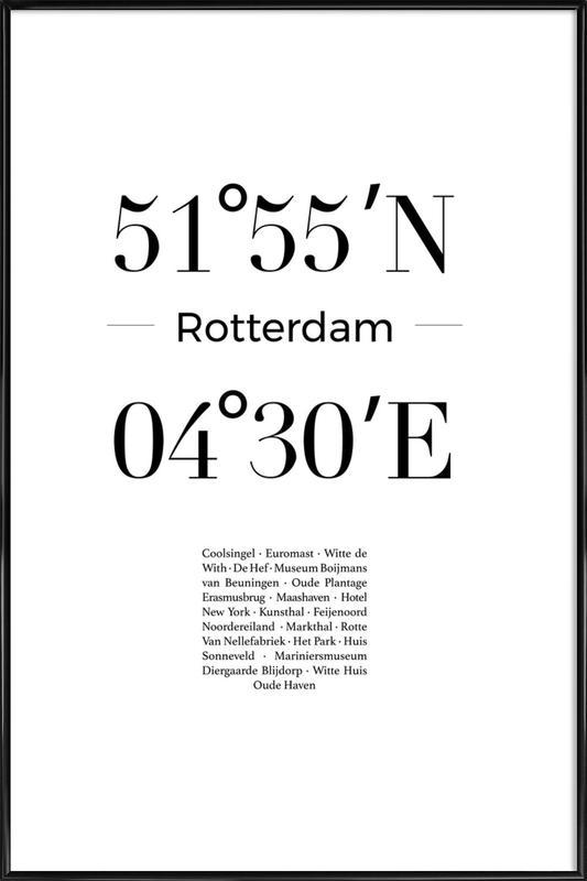 Rotterdam ingelijste poster