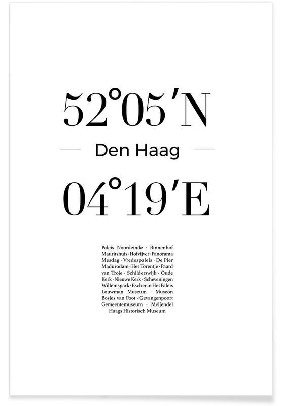 Sort & hvidt, London, Den Haag Plakat