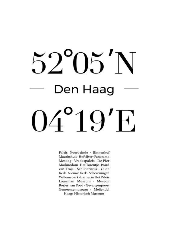Den Haag Canvastavla