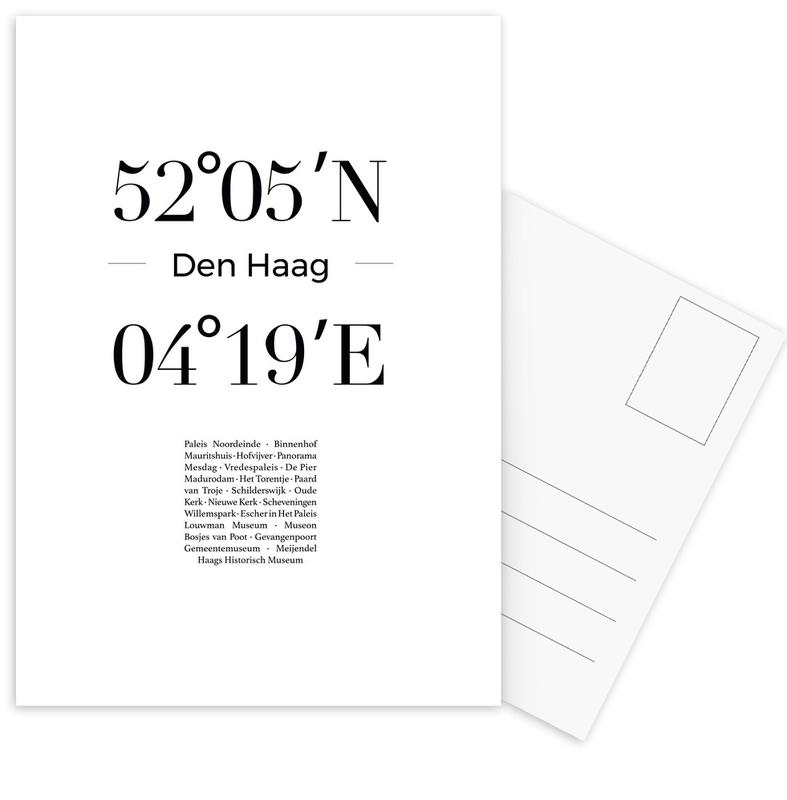 Black & White, London, Den Haag Postcard Set