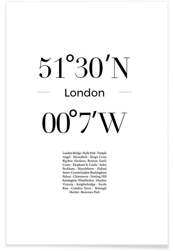 Sort & hvidt, London Plakat