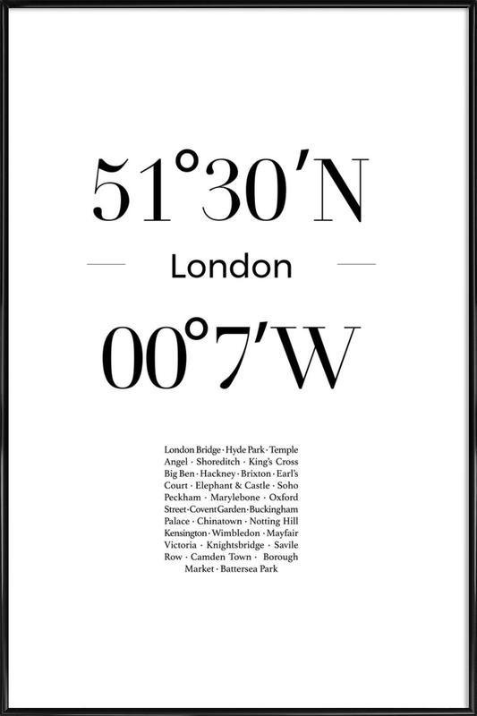 London affiche encadrée