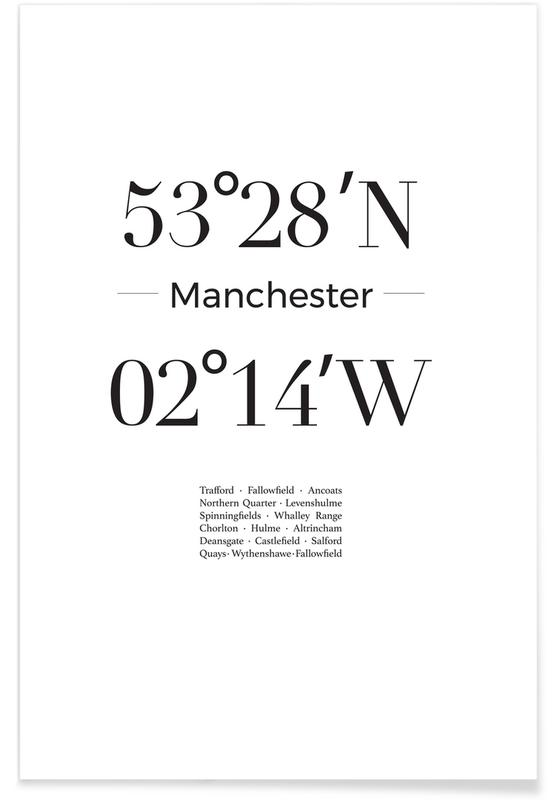 Blanco y negro, Manchester póster