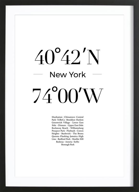New York ingelijste print